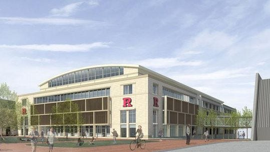 Rendering of Rutgers' proposed practice facility.