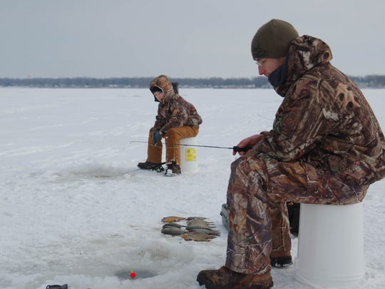 When a deep freeze hits the area, ice fishing becomes a popular activity at East Harbor State Park.