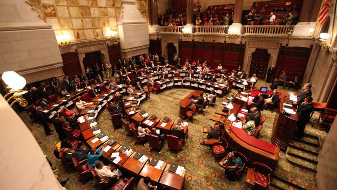 The New York state Senate in session in 2010. Expense reimbursement for state lawmakers has increased by 6 percent during the first two quarters of this year.