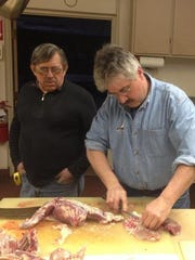 From left, Dave Kaufman  and Dale Vanderworp prepare