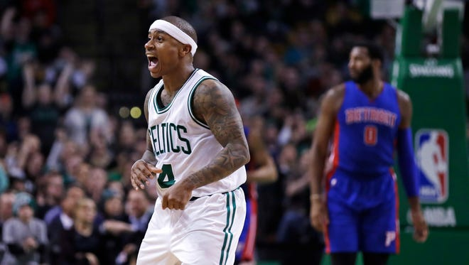 Celtics PG Isaiah Thomas. Age: 28. 2016-17 stats: 28.9 points, 5.9 assists in 33.8 mins. over 76 games. Shooting splits: 46.3/37.9/90.9, 54.6 eFG. Contract: 1-year, $6.3 M. With Steph Curry's 4-year, $44 M contract expiring this summer, Thomas now has arguably the best non-rookie contract in the league. But again, the Celtics will have to make decisions with Thomas, Bradley and Smart all up for new deals. Thomas' hip injury clouds his status for now.