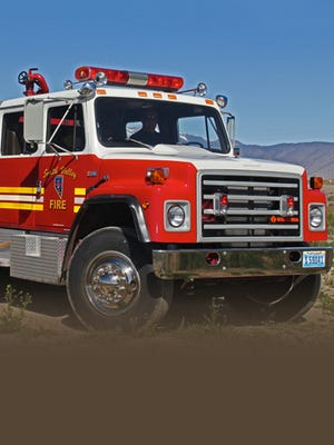 Smith Valley Fire Protection District fire engine.