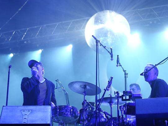 James Murphy of LCD Soundsystem performs during Splendour