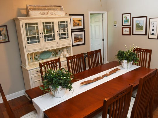 The dining room of the Indian River Colony Club home