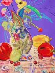 Pastel by Liz Heller, whose work is featured at the Jeansonne garden during the July 30 Artful Garden Walk to benefit the Boys & Girls Club of Door County.