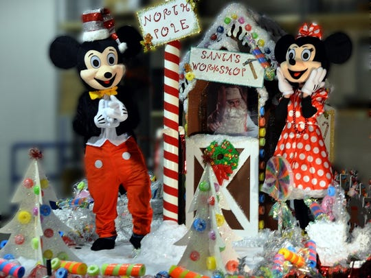 Angelia and Mike Childers own S S & B Heating & Cooling and started participating in the parade about four years ago. This year's theme is Mickey and Minnie Mouse.
