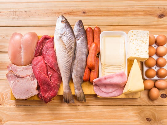 Group of important proteins, meats, fish, dairy, eggs,