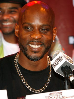 DMX (seen here in 2012) has suffered a heart attack and is hospitalized on life support.