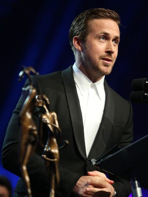Ryan Gosling accepts the Vanguard Award at the Palm Springs International Film Festival, January 2, 2017.