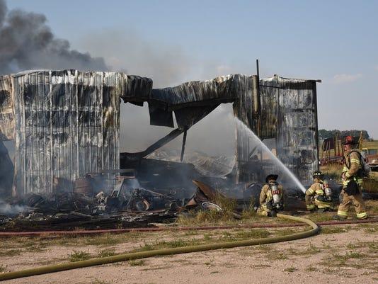 Structure fire in rural NE Windsor