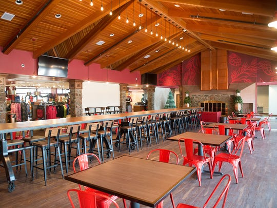 The Biergarten at Anheuser-Busch features a renovated bar, kitchen and dining area. Sean Lara/for the Coloradoan