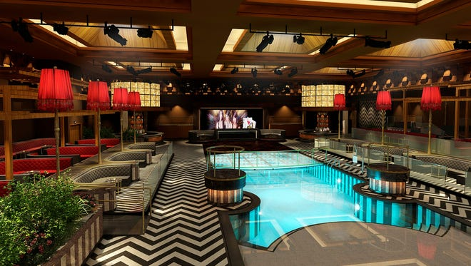 A rendering of LEX nightclub shows what the inside of the 25,000-square-foot club will look like.