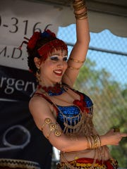 Ansuya Rathor performs Bollywood belly dancing on the main stage during Asia Fest.