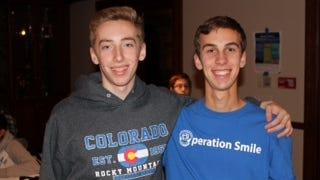 Randolph High School students Mark Lenac and Steven Cassano enjoy the competition.
