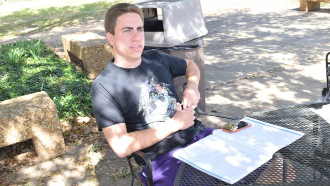 Canaan Teta, an LSU of Alexandria junior elementary education major, is receiving TOPS and talks about what effect it will have on furthering his education if it is reduced or eliminated.