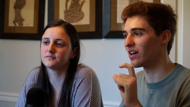 Jack King asks a question about State House candidate Gloria Johnson's campaign for Tennessee's 13th District during an interview of Johnson for the Progressive U. podcast hosted by King and fellow student Rachel Lucas.