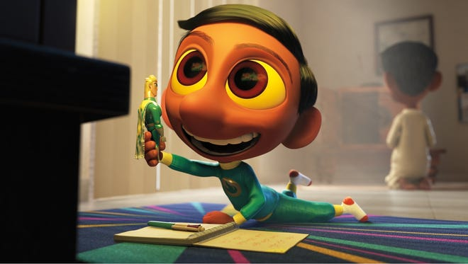 A little boy is much more interested in his superhero cartoons than his father's Hindu heritage in the Disney/Pixar short 'Sanjay's Super Team.'