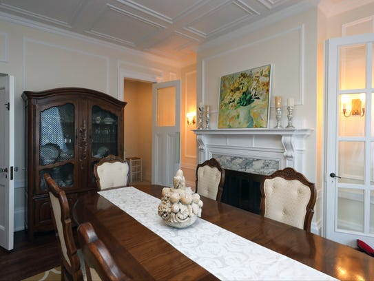 A dining area in this home on the market, at 533 Riverside