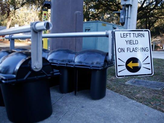 New flashing yellow arrow traffic signals were installed