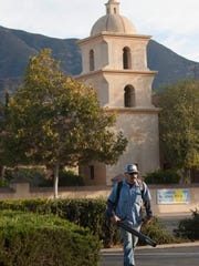 Feliciano Lazaro, a maintenance worker with Mar Landscape,