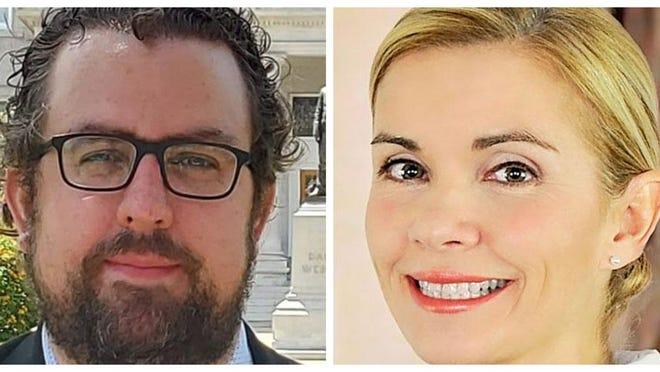 Democrat Steve Briden, left, is facing incumbent Republican Rockingham County Attorney Patricia Conway in the Nov. 3 election.