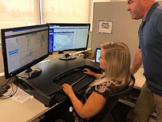 EagleView Storm Response Team members Trisha Van Buren