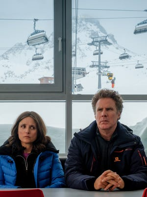 Billie (Julia Louis-Dreyfus) and Pete (Will Ferrell) are not exactly enjoying their vacation.