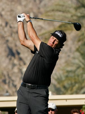 Phil Mickelson tees off during the 2012 Humana Challenge at the La Quinta Country Club. Mickelson and defending champion Patrick Reed lead a strong list of early commitments to the 2015 tournament.
