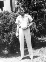 Ben Starr, master sergeant with the Army Air Corps, is shown in his military uniform.