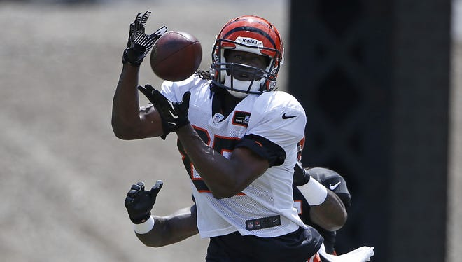 Cincinnati Bengals wide receiver Cobi Hamilton makes is one of five receivers fighting for three spots.