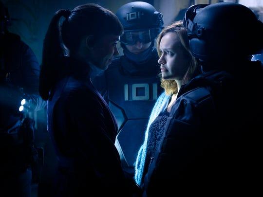 "Hannah John-Kamen as F'Nale Zandor, left, and Olivia Cooke as Samantha in ""Ready Player One."""