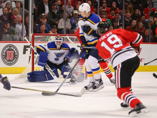 USP NHL: ST. LOUIS BLUES AT CHICAGO BLACKHAWKS S HKN USA IL