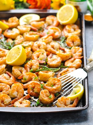 New Orleans Barbecue Sheet Pan Shrimp