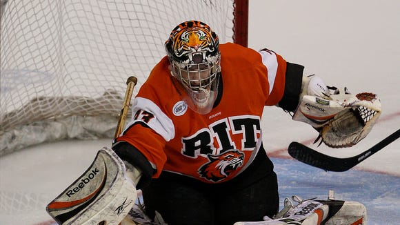 Former RIT goalie Jared DeMichiel is leaving Nazareth College to become an assistant coach at St. Lawrence University.