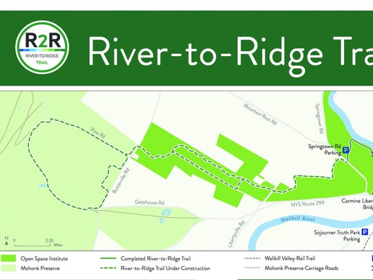 The River-to-Ridge Trail in New Paltz is being funded by the Open Space Institute and the Butler Conservation Fund.
