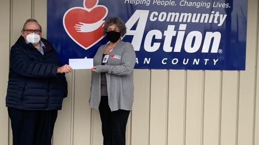 The Gun Lake Tribe of Allegan County announced it had donated $14,339.42 to Community Action of Allegan County Monday, Dec. 14.