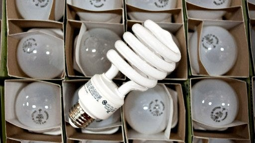 Replace inefficient incandescent bulbs in your home with energy-saving bulbs.