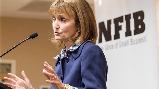 House Speaker Beth Harwell, R-Nashville, speaks at a joint conference of the state chapter of the National Federation of Independent Business and the Tennessee Grocers & Convenience Store Association in Nashville.