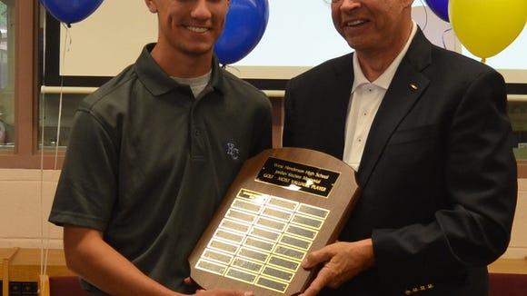 West Henderson senior Brandon Capps is the winner of