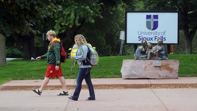 Students at the University of Sioux Falls will be required to wear masks when classes return for in-person learning this fall.