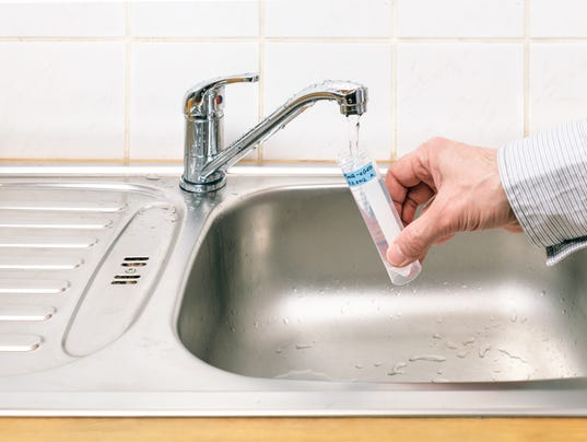 Water for analysis Stock Image