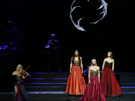 The group Celtic Woman take the stage Friday at the Plaza Theatre.
