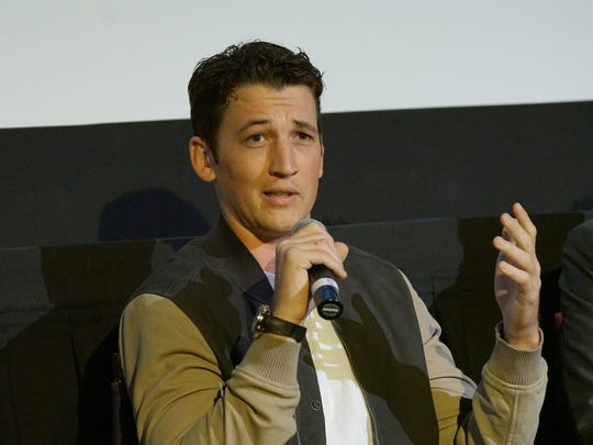 "Actor Miles Teller at a preview screening for ""Bleed For This."" Miles Teller's portrayal as Vinny Paz is the best performance in a boxing movie since De Niro in ""Raging Bull,"" don't @ me."