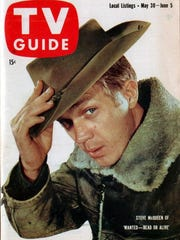 "This 1959 TV Guide cover features actor Steve McQueen, star of the series ""Wanted: Dead or Alive."" McQueen would go on to become one of the biggest names in Hollywood."