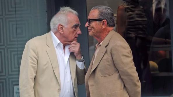 Director Martin Scorsese (left) and actor Joe Pesci