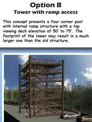 Another option for Eagle Tower incorporates a ramp