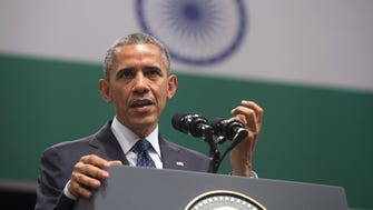 President Obama speaks on U.S. - India relations during a townhall event at Siri Fort Auditorium in New Delhi on Tuesday.