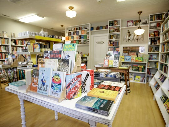 The interior of Wild Geese Bookshop in Franklin, Ind.,