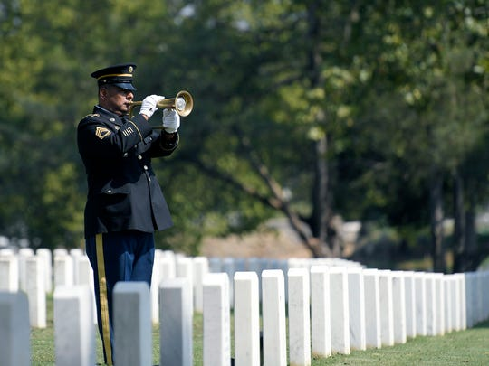 "The custom of playing ""Taps"" was performed for U.S."