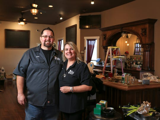 Kevin Conn and Teri Taylor own the the Pearl Street Taphouse, a 24-tap tavern in Jeffersonville on Pearl Street near the Big Four Bridge. It's a dream for the couple who have had help from family member and friends. The tavern also uses a lot of reclaimed wood, such as mahogany doors found at Louisville's Architectural Salvage.